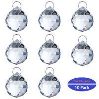 10 PCS CRYSTAL CHANDELIER LAMP FACETED BALL PRISMS SUNCATCHER WINDOW DECOR 30MM
