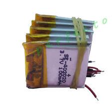 5 pcs 3.7V 100 mAh Polymer Li Lithium cells For GPS driving recorder  Mp3 402020