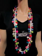 F130 Handmade wool Multi color Felted Ball Hippie Fashionable Necklace Jewelry
