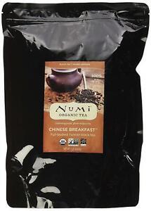 Numi Organic Tea Chinese Breakfast, 16 Ounce Pouch, Loose Leaf Yunnan Black Tea