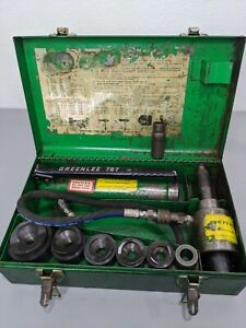 Greenlee 7306 Hydraulic Knockout Punch Driver Set