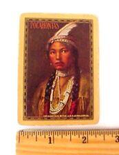 "Original 1906 Art Swap Card ""Pocahontas"" Maiden Playing Card **ONE CARD/NOT DECK"