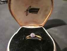 BELLISSIMA Art Deco 18ct GOLD & PLAT, anello di diamanti solitario