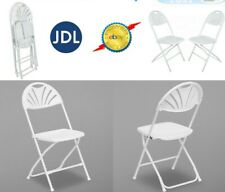 More details for 8 x  folding chair  wedding party event garden white beauty plastic chair 8pack