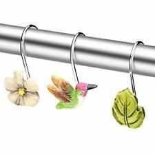 "Shower Curtain Hooks, 12 Pcs Anti-Rust Decorative Hummingbird Home, Bathroom, """