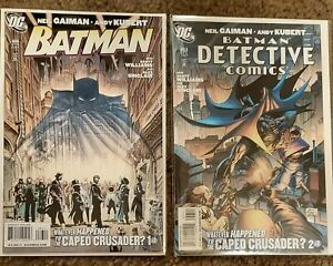 DC COMICS Batman #686 and Derective Comeics #853 By Neil Gaiman and Andy Kubert