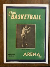1946 1st YR NBA PHILADELPHIA WARRIORS-PROVIDENCE STEAMROLLERS basketball program