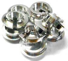 L11176 1/5 Scale Shock Absorber Damper Bottom Spring Holder x 10 Silver 25mm