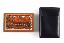 Vintage Anheuser-Busch Budweiser Clydesdales Gold Playing Cards and Case