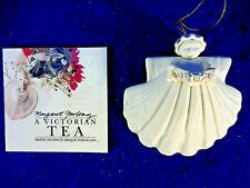 "1995 Margaret Furlong Nib Angel Sea Shell Bisque Porcelain 3"" With Garland"