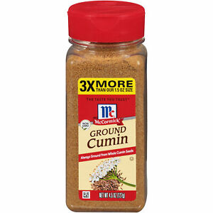 McCormick Ground Cumin, 4.5 oz (Pack of 3)