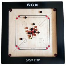 "Pro 37""  Large Carrom Board Game Bull 10000 24mm W/ Free acrylic Coins + Striker"