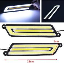 2Pcs Car COB White/Yellow Daytime Running Light Back-up Turn Signal Brake Light