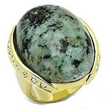 Yellow Gold Plated Turquoise Costume Rings