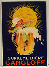 CPM REPRODUCTION AFFICHE ANCIENNE / BIERE GANGLOFF / AUZOLLE vers 1920