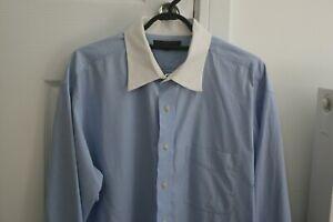 "Tommy Hilfiger Long Sleeved Business Shirt Size XL, 17.5"" collar"