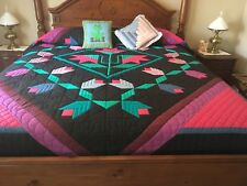 AUTHENTIC AMISH QUILT HAND QUILTED KING