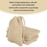 5pcs Durable Sisal Soap Bags Soap Pouch Net Mesh Exfoliating Foaming Pouch