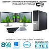 Computer Package Dell 990 DT Core i5 8GB 128GB SSD 320GB HDD 22/24″ LCD DVD WiFI