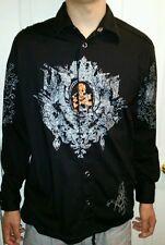 Doramafi Jeans Sicilias Stitched Men's L Long Sleeve Scorpion Skull SCORPIN TEAM