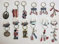 12 x British Key Tags Mini London GB Icon Keyrings Brelock Gift Souvenir England