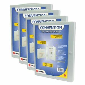 Acco® Convention Folder A4 Business Organiser Box Storage holds upto 300 pages.