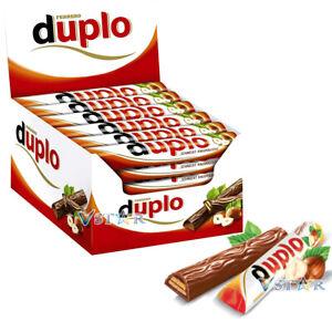FERRERO DUPLO MILK CHRISTMAS CHOCOLATE BARS 18.2g & FULL BOX