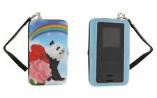 PANDA BEAR ROSE RAINBOW GALAXY S3 S4 iPHONE 4 5 PHONE HINGE CASE ID CARD WALLET