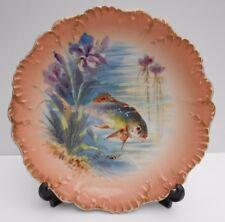 Limoges poisson plaque porcelaine French Laviolette usine peinte à la main poisson Nº 8