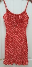 Pretty Little Thing Red Floral Dress. BNWT. Size 14.