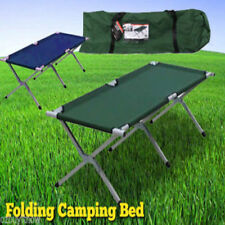 Foldable Camping Bed Stretcher Light Weight w/ Carry Bag Camp Portable Green