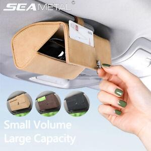 Car Sunglasses Holder Case Box Glasses Clip Auto Sun Visor Card Ticket Organizer