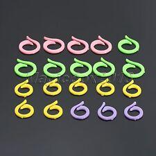 20pcs Circular Knitting Crochet Craft Locking Stitch Markers Holder Needle Clip
