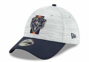 Chicago Bears New Era 2021 NFL Training Camp 39THIRTY Flex Hat - Gray/Navy