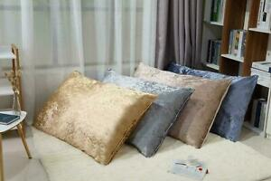 NEW LARGE RECTANGLE CRUSHED VELVET FLOOR SEATS CUSHION COVERS LOUNGER 60x80CM
