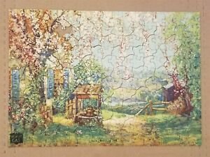 Vintage 1930s Hi Speed Gas Puzzle - No. 3 - Blossom Time - Missing One Piece