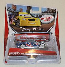Disney Pixar Cars 2 Mattel 1:55 Model Car Frosty Metallic Finish New In Pack