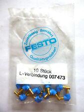 10x FESTO L-Verbindung 007473 Schlauchverbinder Steckverbinder 3mm Neu OVP