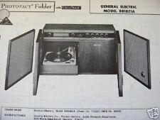 General Electric Rb1831A Phonograph Radio Photofact