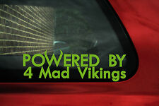 2x Powered by 4 mad vikings stickers ideal for Volvo S40 / V40 / S60, T4 turbo
