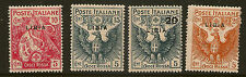 ":1915 LIBIA CROCE ROSSA SERIE OPT ""Libia"" SG 17-20 MINT"