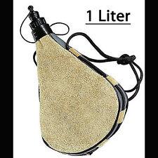 NEU - Botas-Feldflasche - Leder - 1 Liter LEDERFLASCHE - TRINKBEUTEL