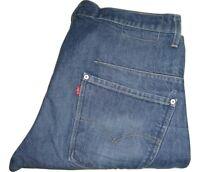 Hombre LEVI'S Diseñado Perverso Pantalones de Mezclilla Azul W32 L32
