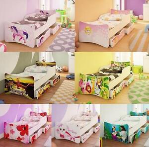 BFK BRANDNEU Bett Kinderbett Jugendbett mit Matratze Lattenrost Schubladen