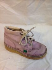 Girls Kickers Pink Leather Boots Size 26