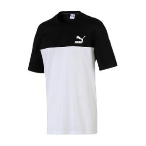 Puma Retro Tee Homme Noir Blanc Athlétique Décontracté Sportswear Haut