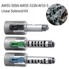 3Pcs W55-50SN AW55-51SN AF33-5 Transmission Linear Solenoid Kit for Volvo Nissan