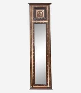 Home Decorative Wood Bone Inlay  Mirror Frame Mughal Design