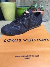 AUTH LOUIS VUITTON MENS SHOES SNEAKERS LV MONOGRAM US SIZE 8 MADE IN ITALY