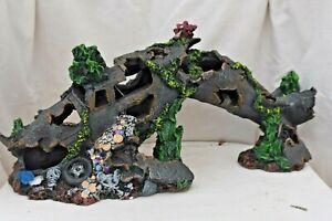 EXTRA LARGE - CRASHED PLANE WRECK Aquarium Ornament - WW2 ruin cave hide
